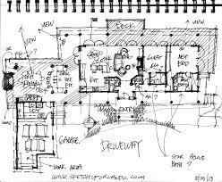 sketch floor plan for the hidden sequoia modern rustic cabins