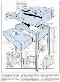 Wood Desk Plans by Writing Desk Plans U2022 Woodarchivist