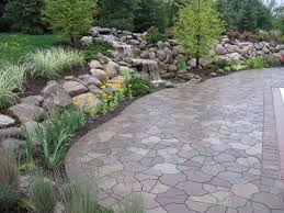Flagstone Pavers Patio Water Fall And Pond Flagstone Paver Contemporary Patio