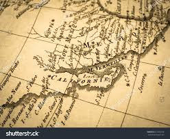 map of mexico and california map california peninsula mexico stock photo 677955736