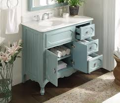 Shaker Style Vanity Bathroom by 42 Inch Bathroom Vanity Cottage Beadboard Style Light Blue Color