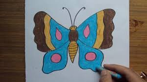 how to draw butterfly step by step easy with pastel color youtube