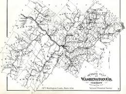 Washington County Map by County Maps Vermont Historical Society