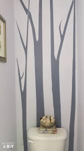 In The Powder Room No Foolin U0027 Trees In The Powder Room Me Myself U0026 Diy