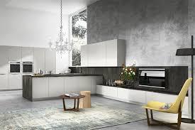 kitchen luxury chandelier also concrete wall plus built in ovens