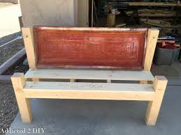 How To Build Wood Bench Rustic Tailgate Bench Tutorial Addicted 2 Diy