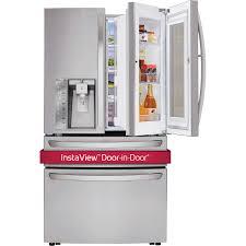 lg 30cuft 4 door french door instaview refrigerator with door in