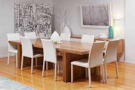 White Leather Dining Chairs Australia The Edge Solid Marri Dining Table And Italian White Leather