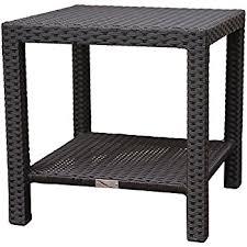 rattan coffee table outdoor amazon com banta outdoor wicker side table multibrown kitchen
