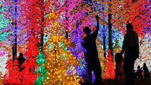 around the world malaysians admire light decorations ahead