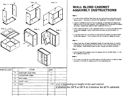 Kitchen Cabinet Blind Corner Assembly Instruction For Rta Kitchen Cabinets