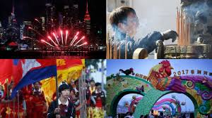 lunar new year celebrations light up the sky across the world