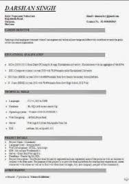 download best resume format for mca freshers excellent free resume sles for mca freshers for your mca