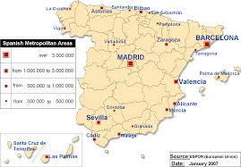 Spain Map Spanish Metropolitan Areas Map U2022 Mapsof Net