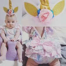 baby girl birthday unicorn baby romper pastel rainbow romper unicorn cake smash