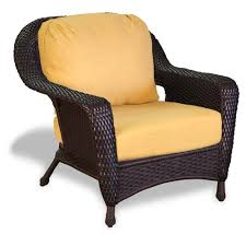 Outdoor Wicker Chair With Ottoman Tortuga Outdoor Lexington Wicker Club Chair Wicker Com