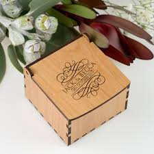 Wedding Ring Box by Engraved Wooden Wedding Ring Box Personalised Favours