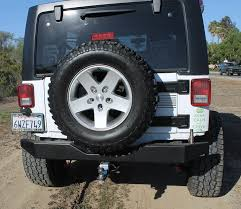 jeep rear bumper with tire carrier olympic 4x4 products bumpers rear bumpers 2007 2016 jk