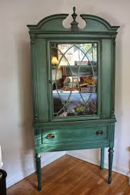 china cabinet spray painted vintage temple stuart china cabinet