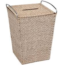 double laundry hamper with lid bathroom chic bamboo laundry wicker clothes hamper basket for