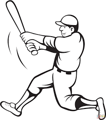 baseball coloring page charming brmcdigitaldownloads com