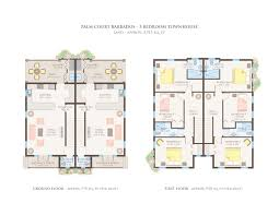 3 story townhouse floor plans the residences palm court barbados two story townhouse