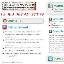 questionnaire mariage fiche du jeu de mariage les adjectifs les jeux de mariage fr