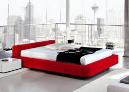 nice modern red black and white bedroom 44 for interior design