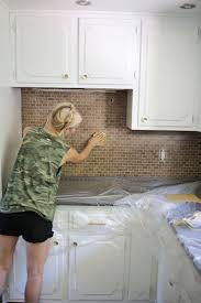 painting kitchen tile backsplash kitchen i painted our kitchen tile backsplash the wicker house