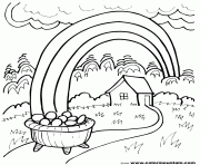 rainbow pot of gold coloring pages rainbow pot of gold rainbow kids coloring pages printable