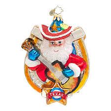 christopher radko christmas ornaments texas style