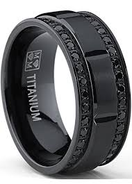 titanium wedding rings 9mm men s black titanium wedding band ring with
