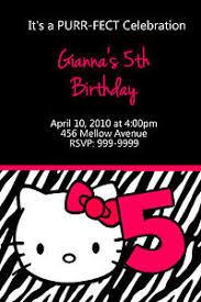 personalized hello kitty birthday invitations u print 24 hr