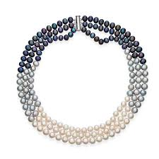 color pearl necklace images Multi color triple strand layer freshwater pearl necklace 8 9mm jpg