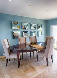 mirror wall art ideas dining room transitional with oval table