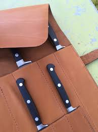 Case Kitchen Knives by Knives Knives Case Leather Brown Storage