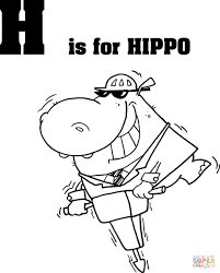 letter h is for hippo coloring page free printable coloring pages