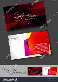 professional business card template visiting card stock vector