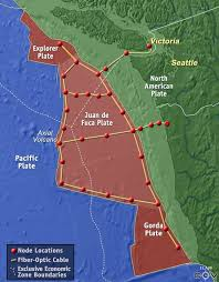 physical map of oregon juan de fuca plate observatory systems sea news