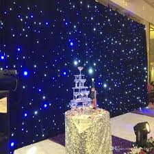 wedding backdrop blue 2x4 meters shiny blue and white colors led curtain wedding