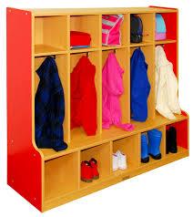 ecr4kids colorful essentials 5 section coat locker u0026 bench