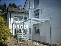 balkon mit treppe treppe mit balkon 1 metallbau bauschlosserei