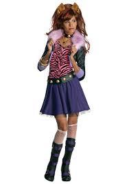 Monster High Halloween Wolf Doll by Girls Clawdeen Wolf Costume Monster High Doll Costume