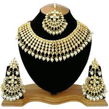 gold choker necklace set images Buy finekraft meena kundan beautiful gold plated party wear white jpg