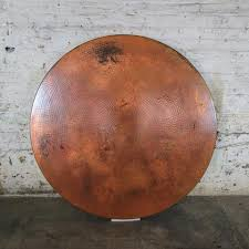 Hammered Copper Dining Table Copper Top Forest Dining Table Hand Hammered Recycled Copper