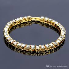 bracelet jewelry tennis images New fashion men tennis bracelet crystal design punk hip hop gold jpg