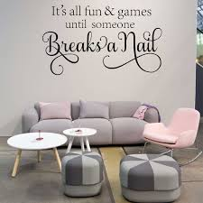 online shop nail salon wall decal it u0027s all fun and games until