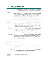 student resume templates microsoft word