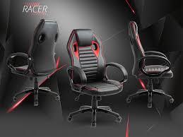 fauteuil de bureau sport racing racer rs noir fauteuil de bureau look sportif et confortable siège