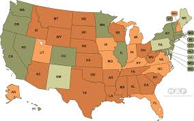 States With No Income Tax Map by National Equality Map Transgender Law Center